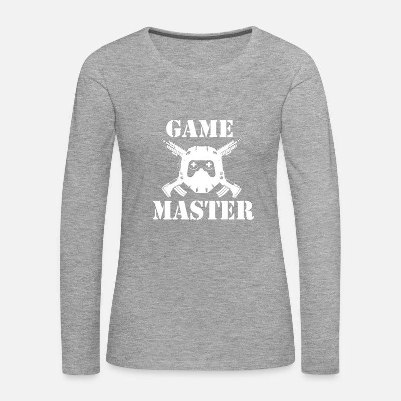Spil Master Gamer Passion Dame premium T shirt med lange ærmer mørk pink