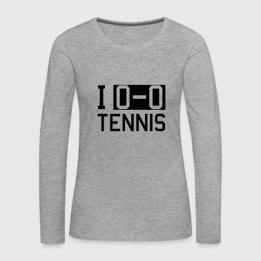 Tennis tennis player tennis court - Women's Premium Longsleeve Shirt
