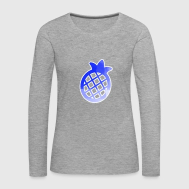 Blue Pineapple Pictogramm Stancel - Women's Premium Longsleeve Shirt