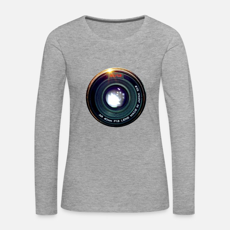 Photography Long Sleeve Shirts - Vintage Pancake Lens - Women's Premium Longsleeve Shirt heather grey