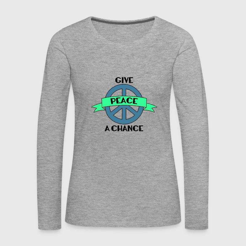 Hippie / Hippies: Give Peace A Chance von sg-design | Spreadshirt