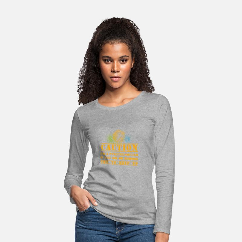 Pyrotechnics Long Sleeve Shirts - fireworks Expert - Women's Premium Longsleeve Shirt heather grey