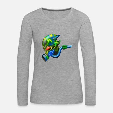 Alien Alien with gas mask - Women's Premium Longsleeve Shirt