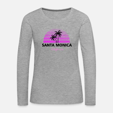 California Santa Monica California black / pink - Women's Premium Longsleeve Shirt