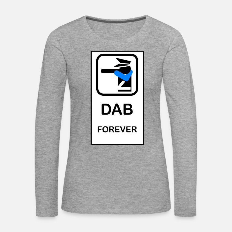Dancing Long Sleeve Shirts - DAB POLICE - Women's Premium Longsleeve Shirt heather grey