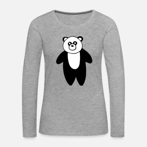 64cc7b897707a0 Cute Panda Zeichnung Frauen Premium Langarmshirt