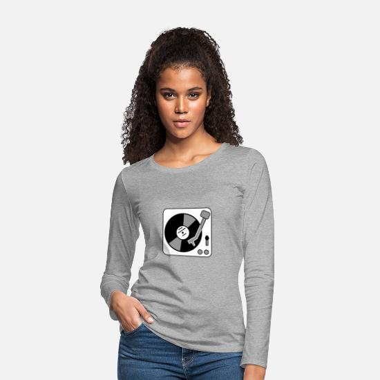 Platter Long Sleeve Shirts - Turntable - turntable - Women's Premium Longsleeve Shirt heather grey
