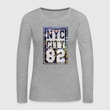 New York City - NYC - T-shirt manches longues Premium Femme