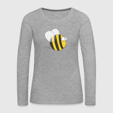 Cool & Crazy Funny Bee / Bumble Bee (Sweet & Cute) - Women's Premium Longsleeve Shirt