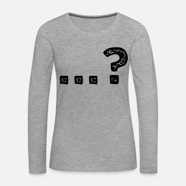 Question Mark ...? Question mark question idea - Women's Premium Longsleeve Shirt