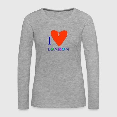 I Love London B - Women's Premium Longsleeve Shirt