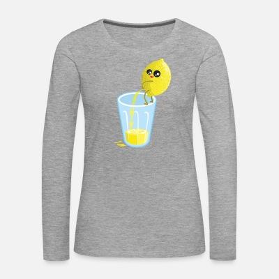Lemon pees lemonade - Camiseta de manga larga premium mujer 5b570cd6e56ce