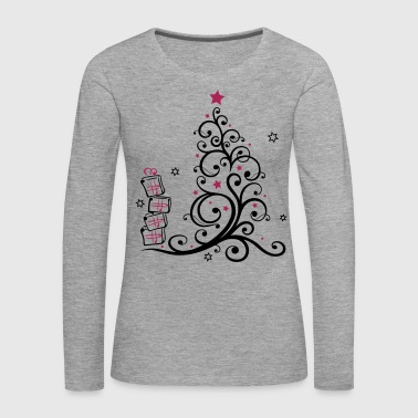 Christmas tree with gifts and stars - Women's Premium Longsleeve Shirt