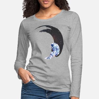 Space Surf in space - Frauen Premium Langarmshirt
