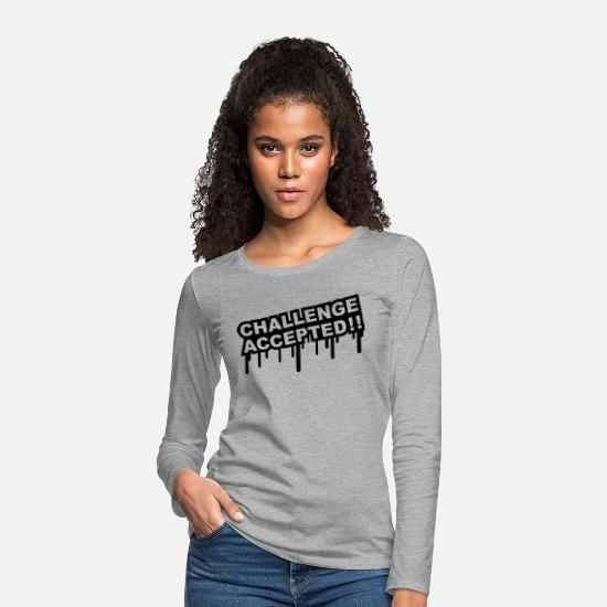 Challenge Accepted Long sleeve shirts - Challenge Accepted Graffiti - Women's Premium Longsleeve Shirt heather grey