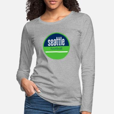 Seattle Seahawks Fútbol de Seattle - Camiseta de manga larga premium mujer