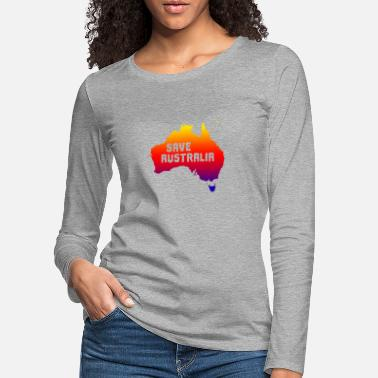 Continent australia save the continent - save the continent - Women's Premium Longsleeve Shirt
