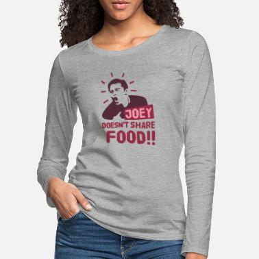 Tv Joey-doesnt-share-food-rood - Vrouwen premium longsleeve