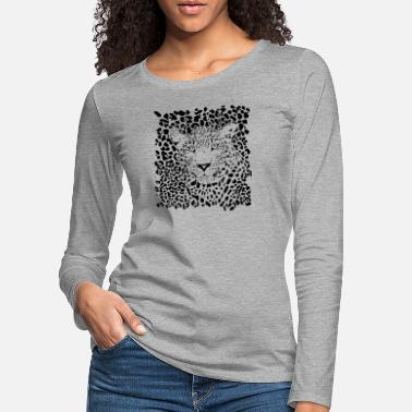Animal Planet leopardo animale - Maglietta maniche lunghe premium donna