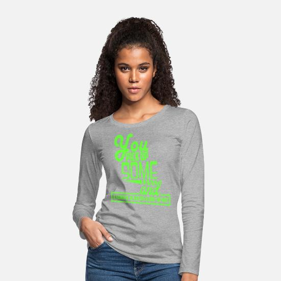 Jealous Long sleeve shirts - Haters hate Eiversüchtig saying - Women's Premium Longsleeve Shirt heather grey