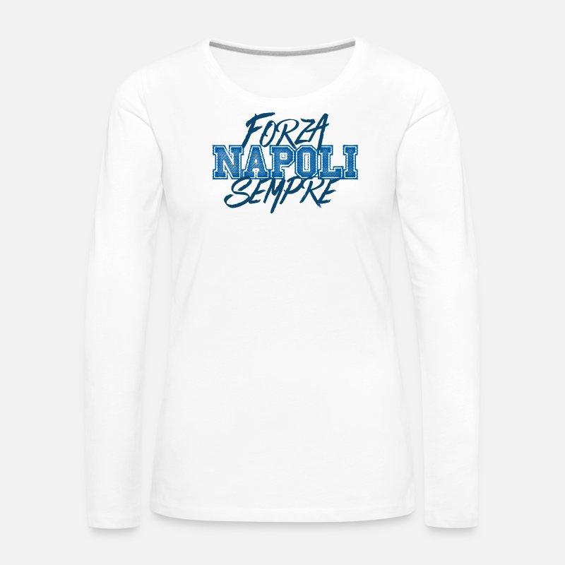 Napoli forza siempre Camiseta de manga larga premium mujer  9eef01c27ffd1
