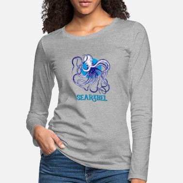 Sea squid octopus searebel sea deep sea - Women's Premium Longsleeve Shirt