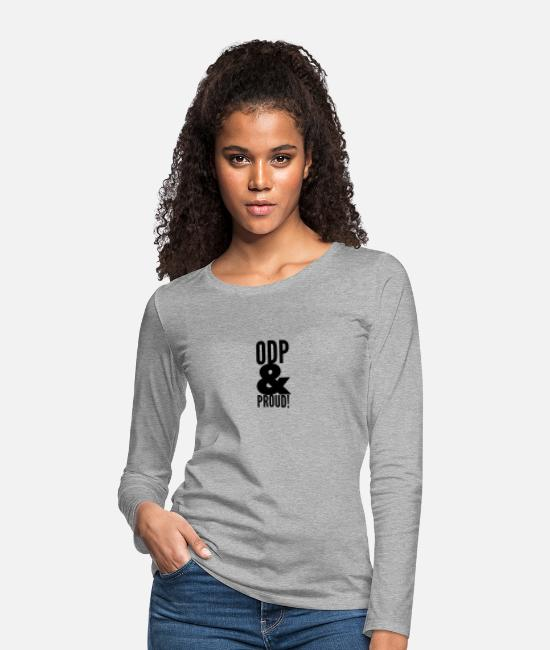 Operating Department Practice Long-Sleeved Shirts - ODP and proud - Women's Premium Longsleeve Shirt heather grey