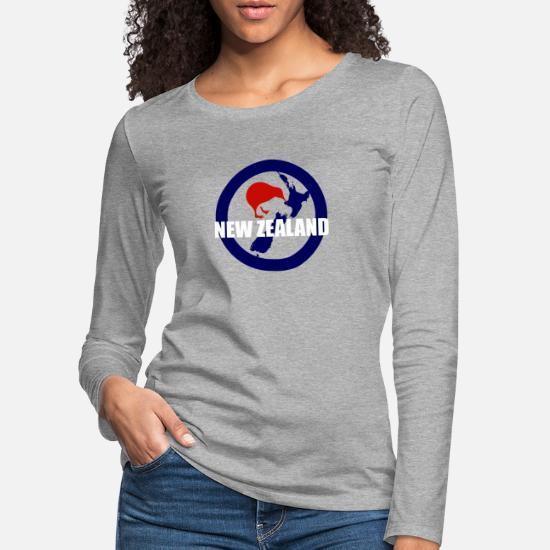 6c4340d1fbeafd Polinezja Koszulki z długim rękawem - Maori New Zealand Kiwi Bird - Pomysł  na prezent -