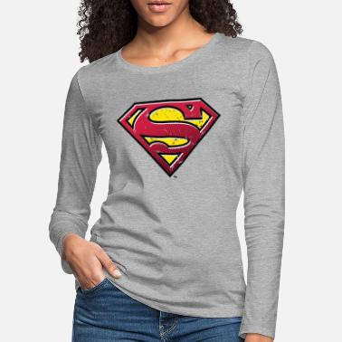 Superman S-Shield Used Look 2 Teenager's T-Shirt - Vrouwen premium longsleeve