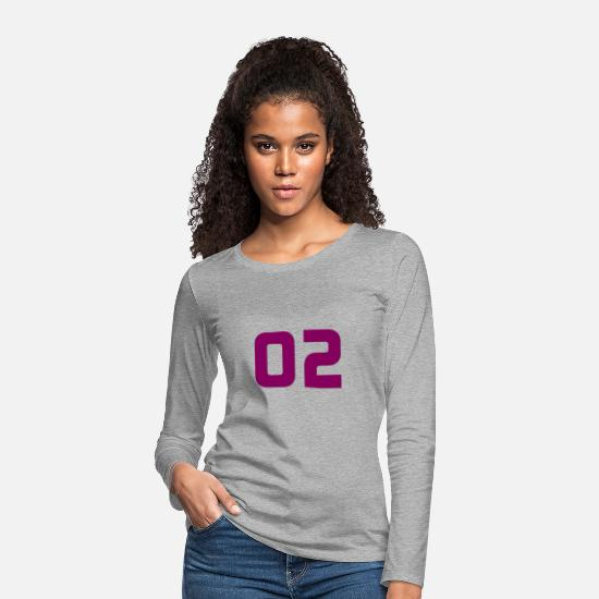 Birthday Long sleeve shirts - Jersey number 2 - Jersey number 2 - Women's Premium Longsleeve Shirt heather grey