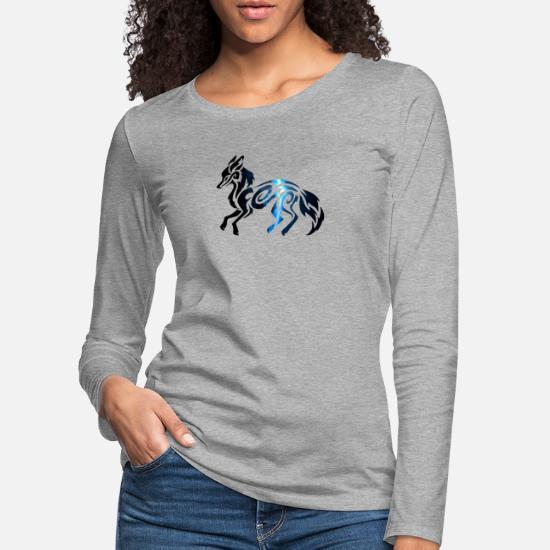 Tribal Space Fox T shirt manches longues premium Femme