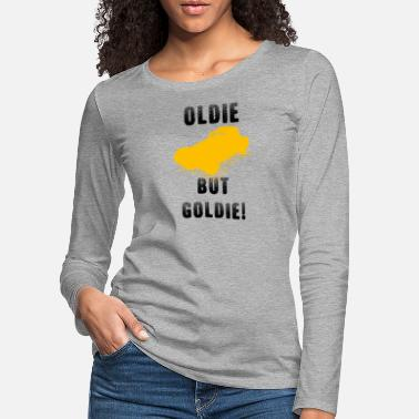 Oldtimer saying oldie but goldie car gold - Women's Premium Longsleeve Shirt