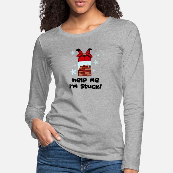 Bad Santa Christmas Premium langermet T skjorte for kvinner