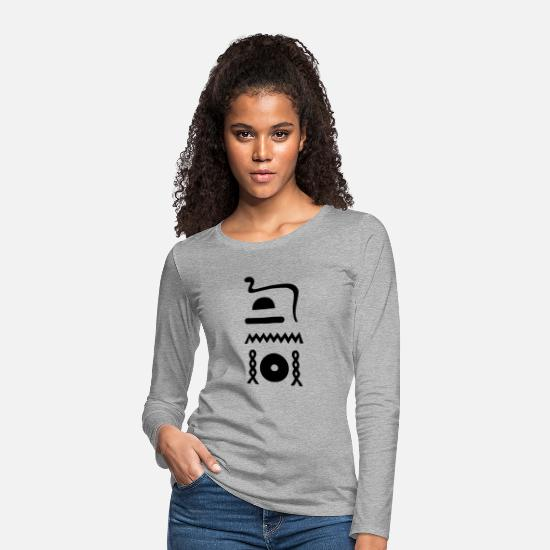 Eternity Long sleeve shirts - Hieroglyphics: djet-neheh (eternal, eternal) - Women's Premium Longsleeve Shirt heather grey