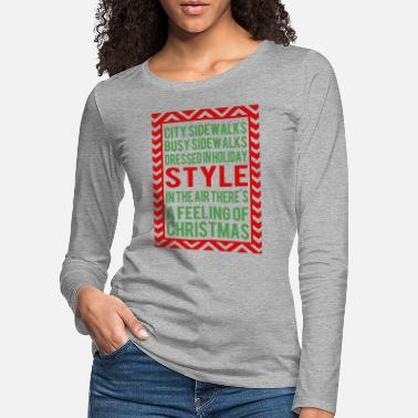 Sidewalk city sidewalks busy sidewalks - Women's Premium Longsleeve Shirt