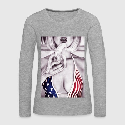 Stars & Stripes Top banana - Women's Premium Longsleeve Shirt
