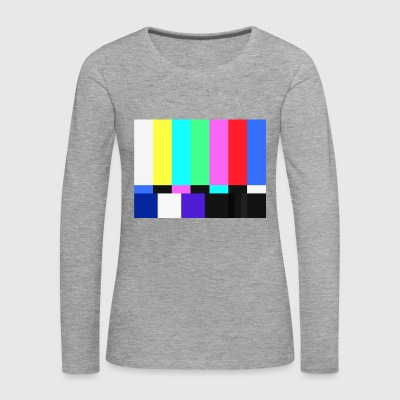 Test Card.Test Pattern. Retro Television Crew.SALE - Women's Premium Longsleeve Shirt