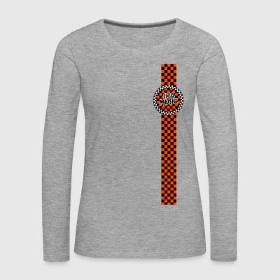 ska music orange black band design - Women's Premium Longsleeve Shirt