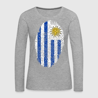 URUGUAY FINGERABPRESSION. SOUTH AMERICA SPANISH - Women's Premium Longsleeve Shirt