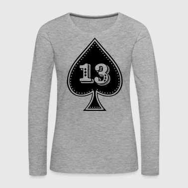 rocker design Ace of Spades with number 13 - Women's Premium Longsleeve Shirt