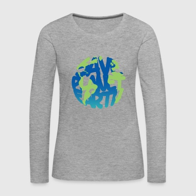 SAVE Planet Earth (Vivid) - Maglietta Premium a manica lunga da donna