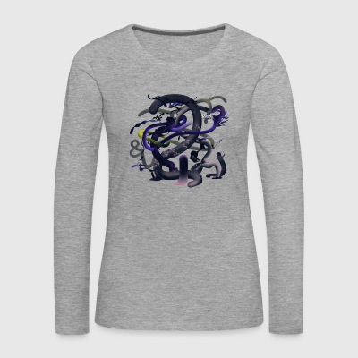 Alien flora purple - Women's Premium Longsleeve Shirt