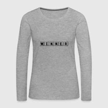 Gewinner - lustige Brief Tile Crossword Scrabble Nerd - Frauen Premium Langarmshirt