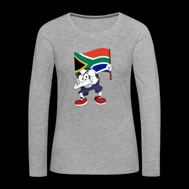 South Africa Dabbing football - Women's Premium Longsleeve Shirt