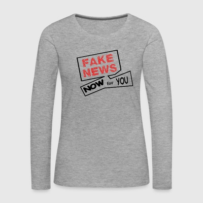fake news - Women's Premium Longsleeve Shirt