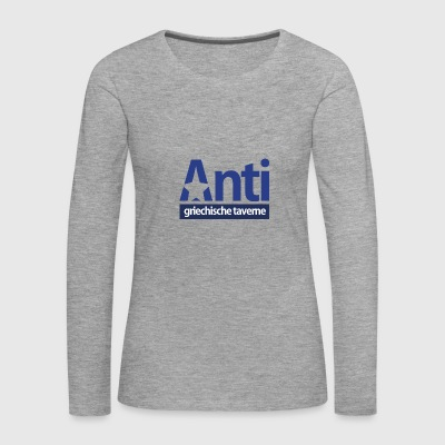 Anti Star Logo Blue version - Frauen Premium Langarmshirt