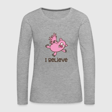 Flying pig - Women's Premium Longsleeve Shirt
