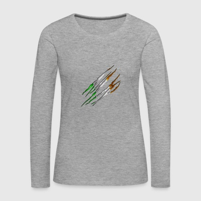 Ireland Slit open 001 AllroundDesigns - Women's Premium Longsleeve Shirt