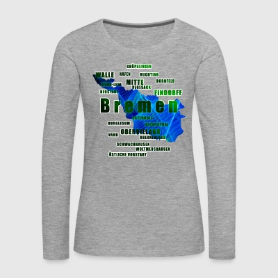 Bremen - its neighborhoods - Women's Premium Longsleeve Shirt