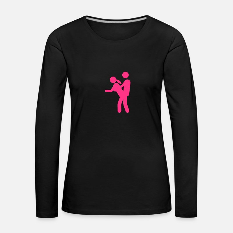 Sex Long Sleeve Shirts - Sex standing doggy style icon 1709 - Women's Premium Longsleeve Shirt black